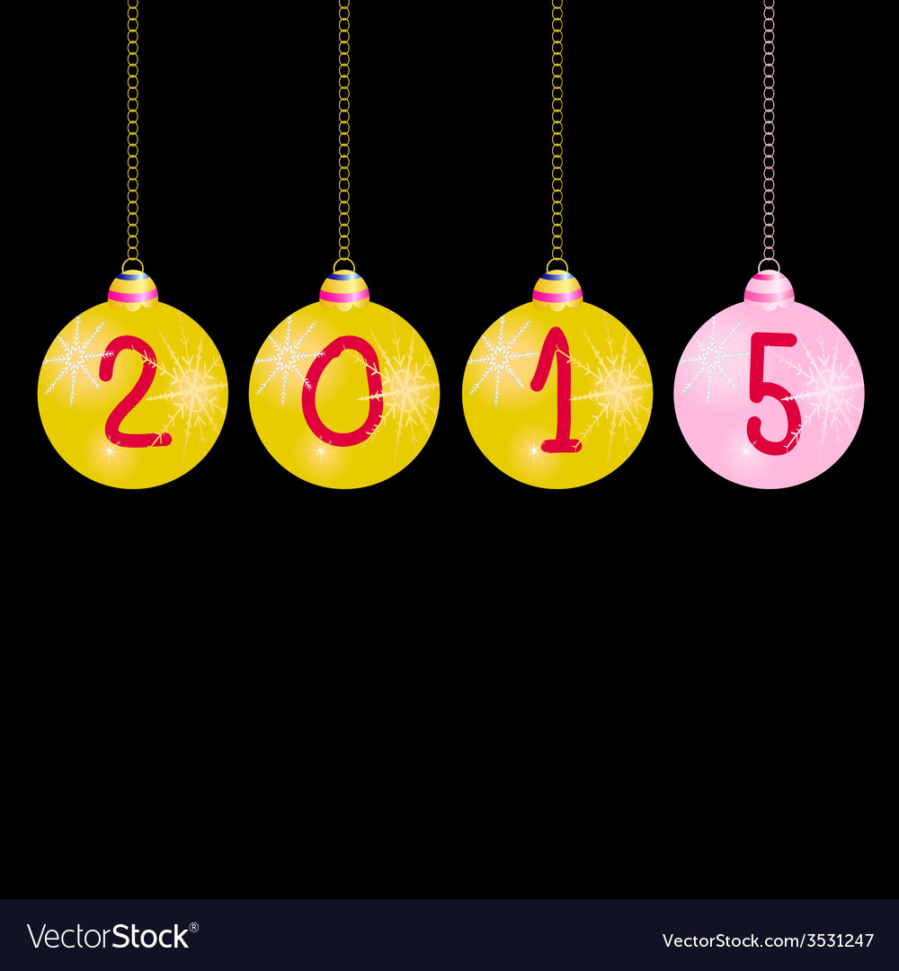 New year 2015 balls color