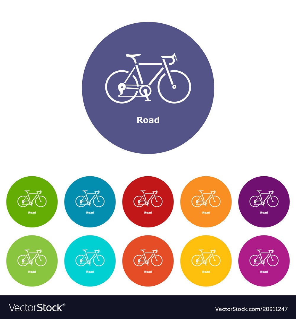 Road bike icon simple style