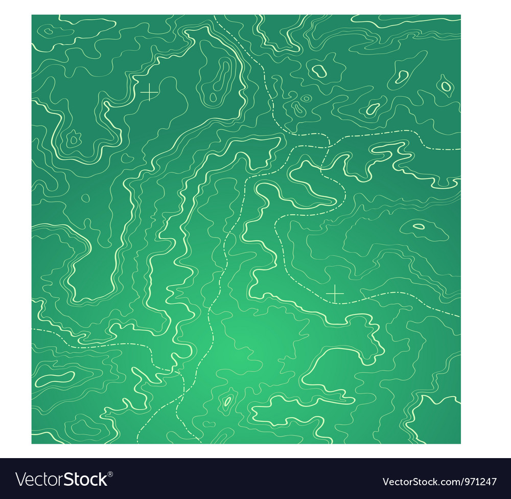 Topographic map green vector image