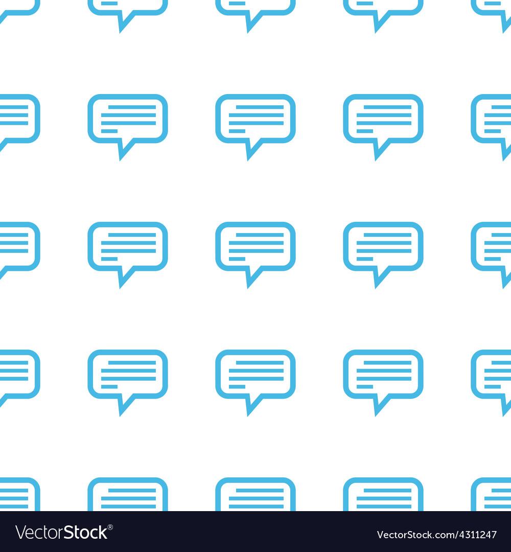 Unique Talk seamless pattern
