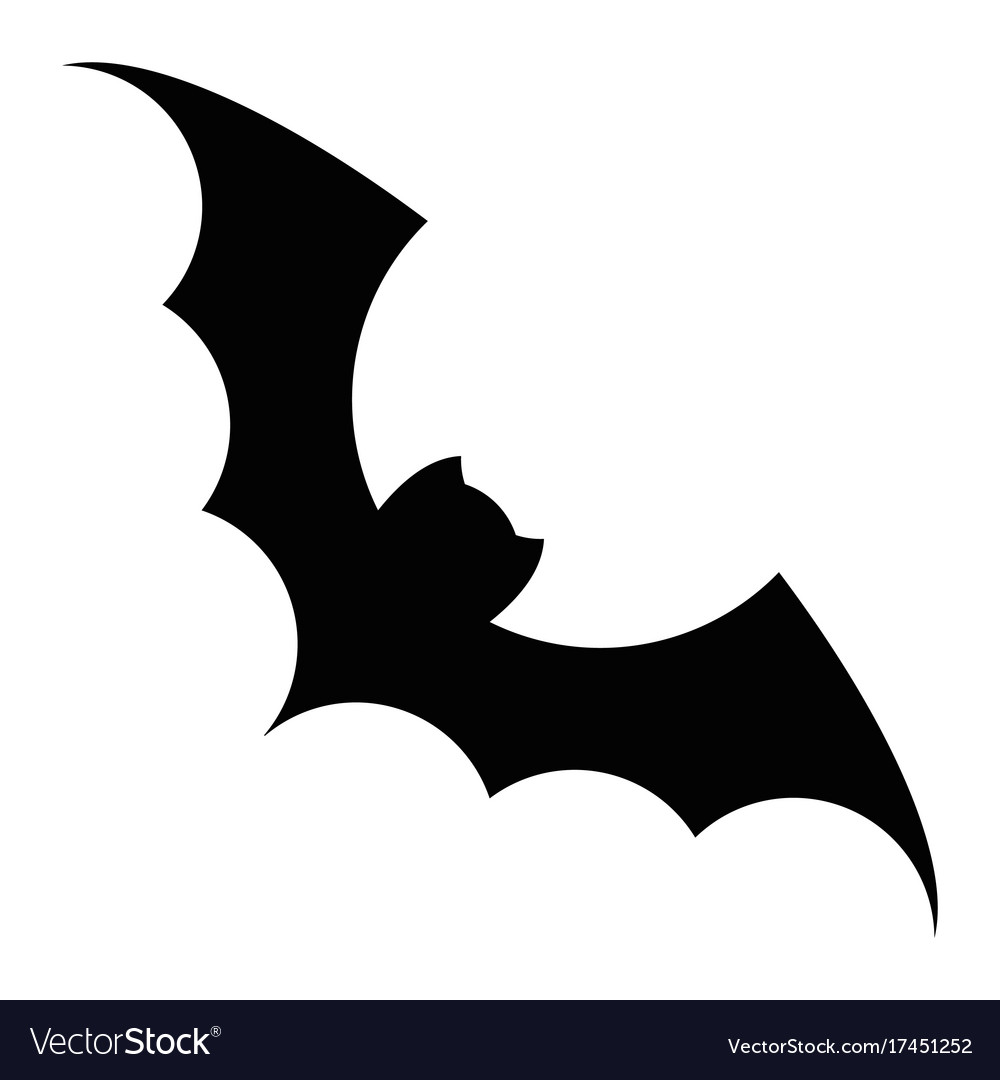 Bat black icon
