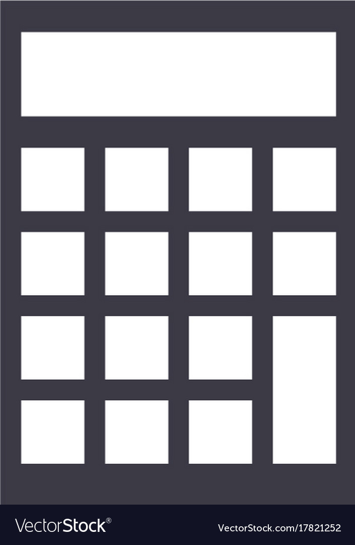 Calculator line icon sign vector image