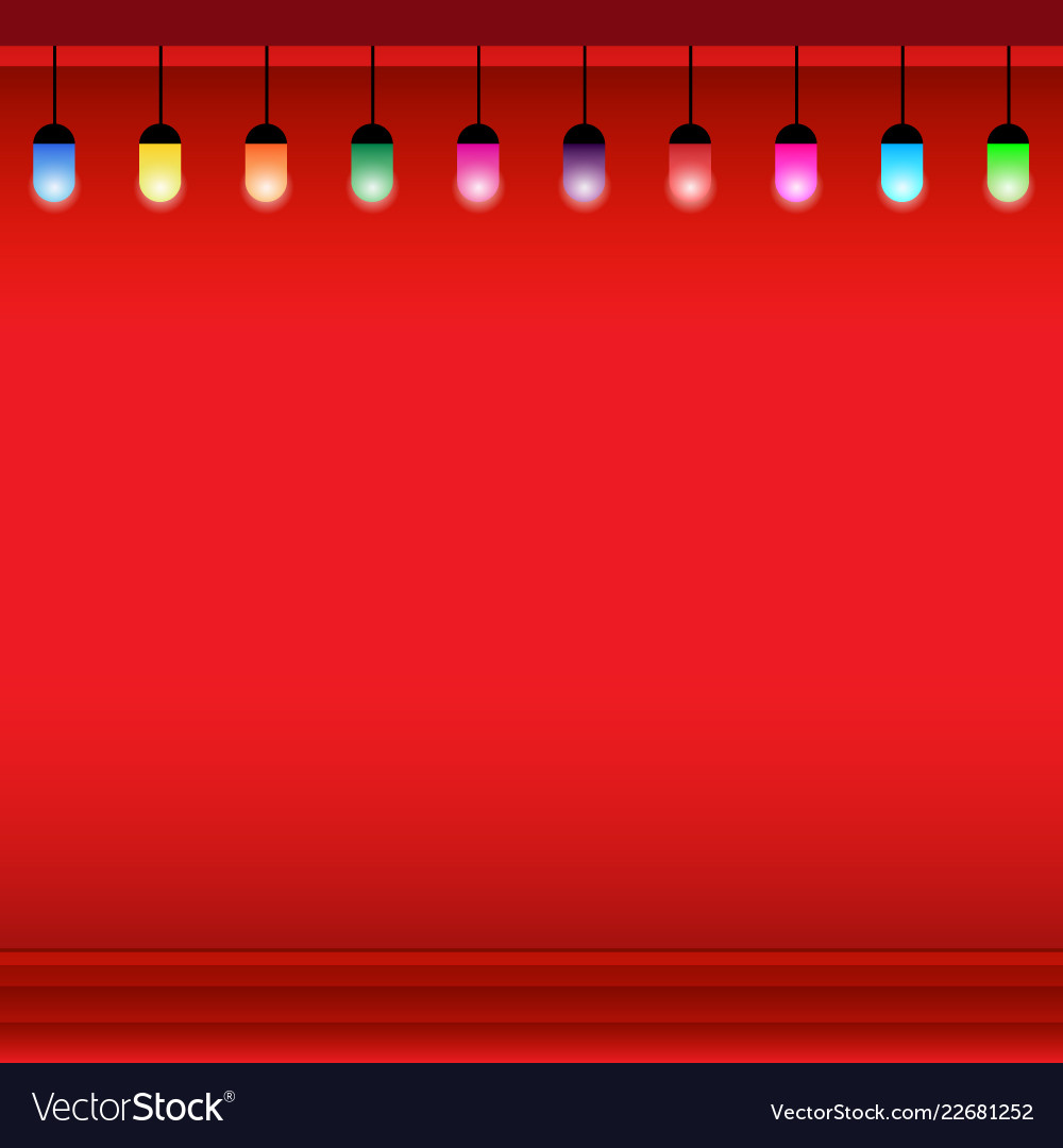 Christmas light background with lamp