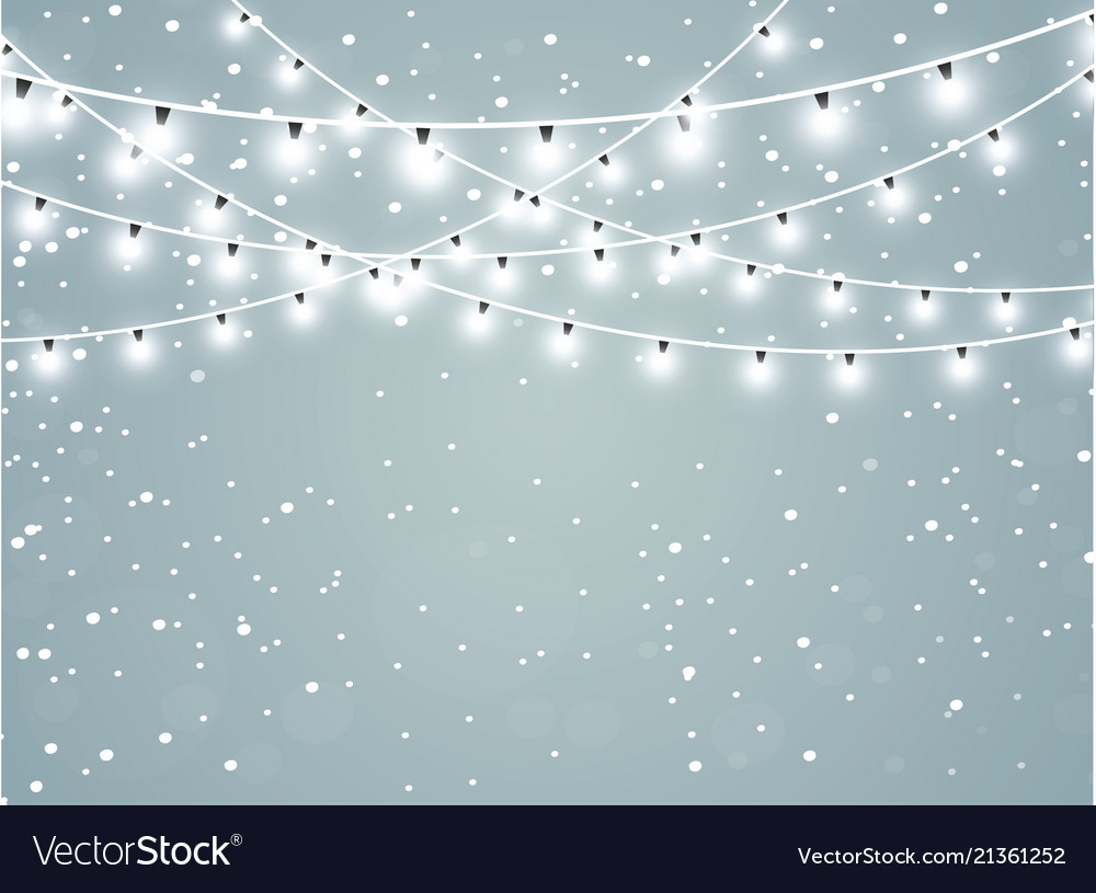Falling snow on a transparent sparkle background
