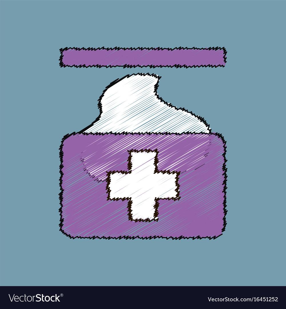 Flat shading style icon medical napkins
