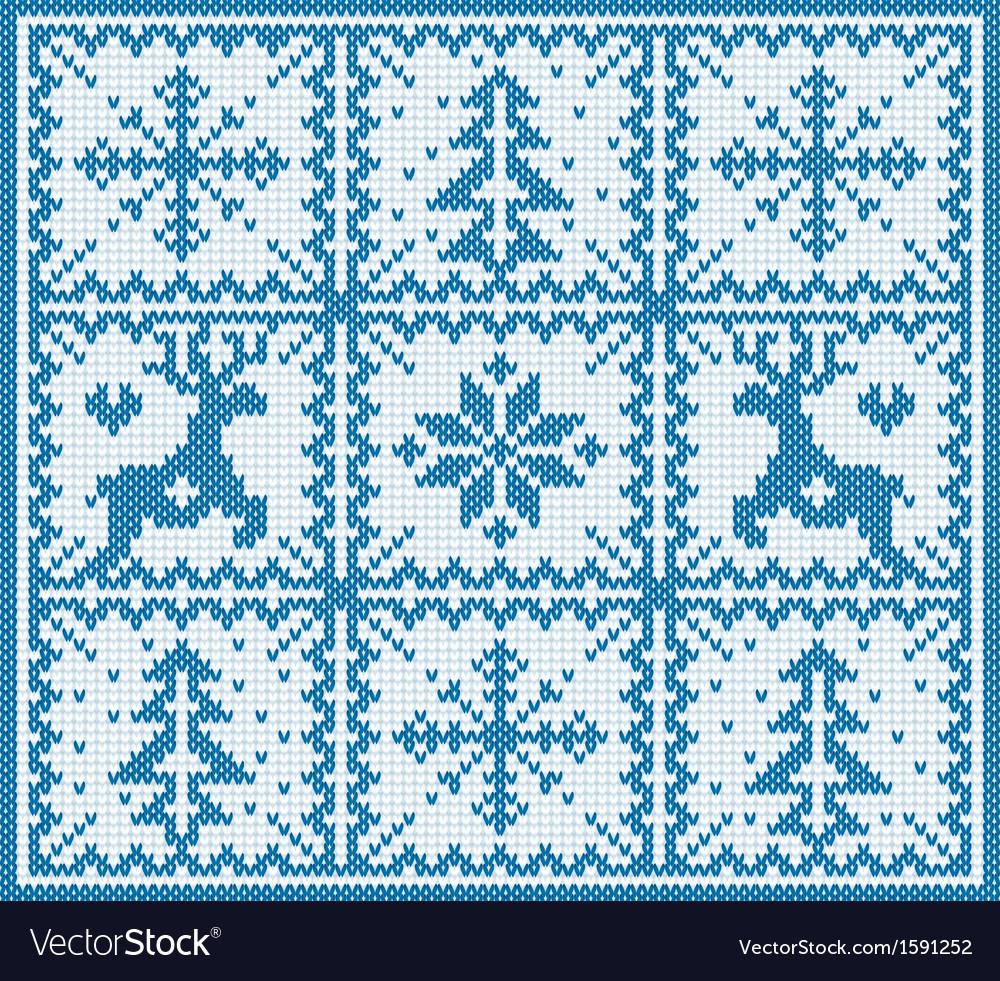 Knitting winter pattern