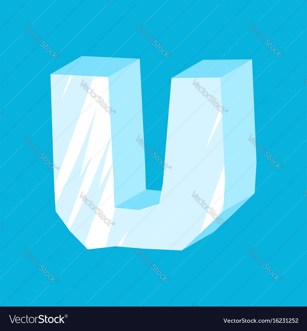 Letter u ice font icicles alphabet freeze