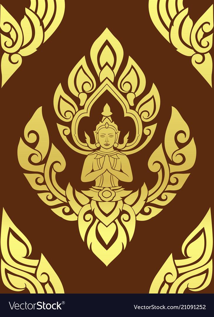 Thai traditional art thai art background thai