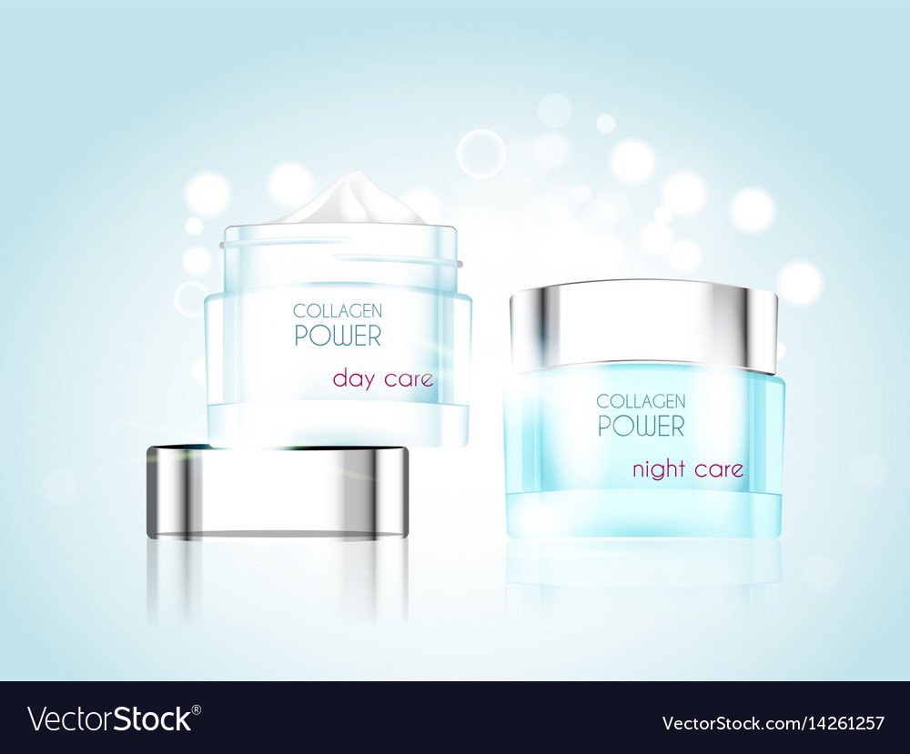 Cream jar skin care product package