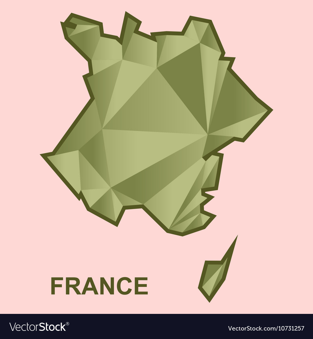 Digital france map with abstract