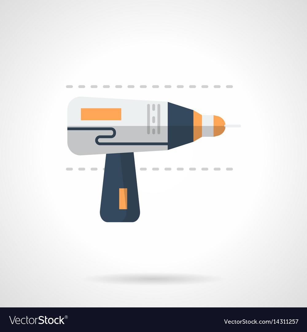 Drill flat color icon
