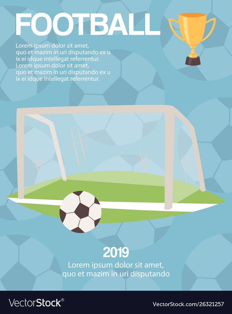 Football or soccer goal sports equipment poster