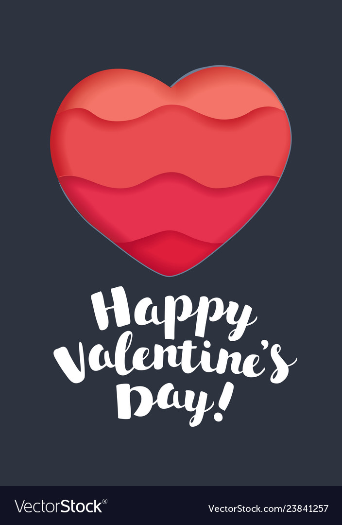 Happy valentines day hand drawn lettering design