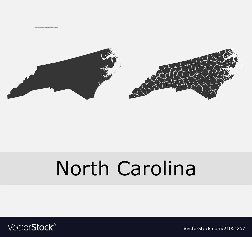 North carolina map counties outline