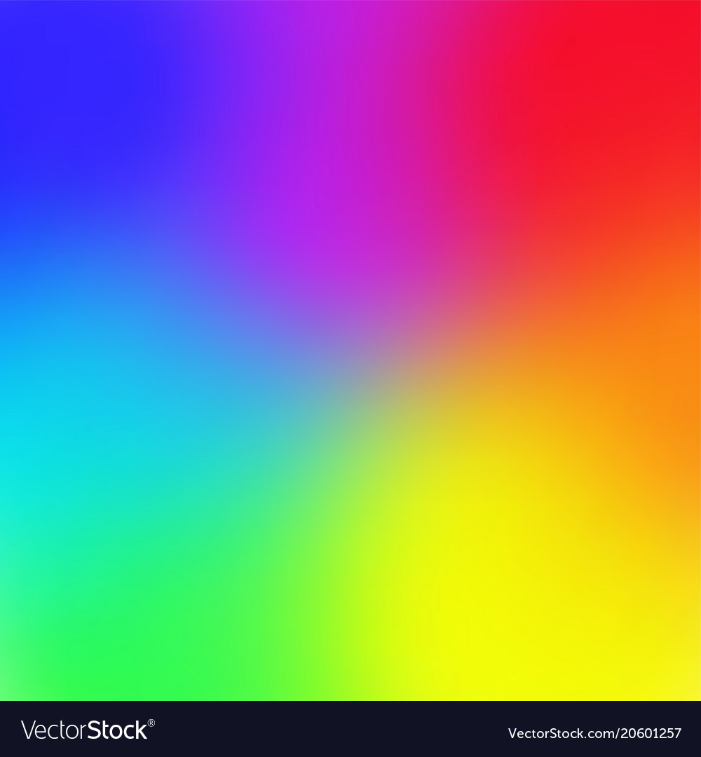 rainbow color gradient mesh background trendy vector image - Rainbow Color