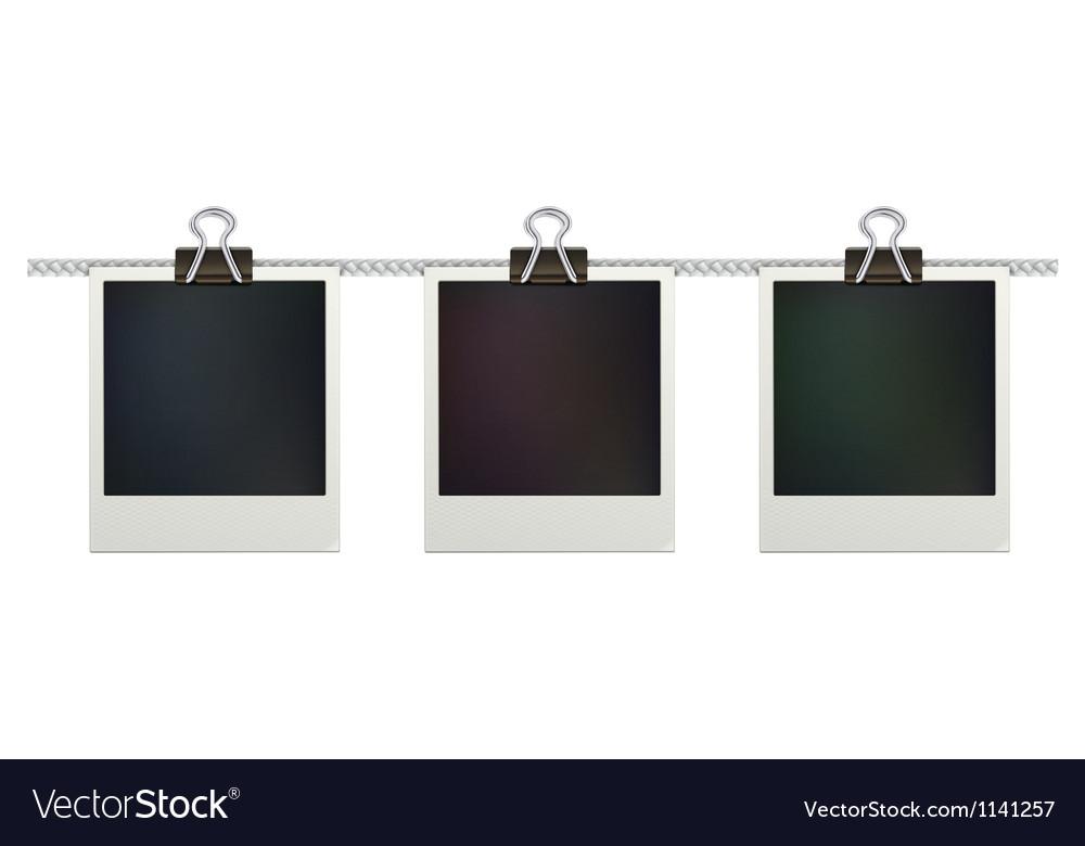Retro polaroid photo frames Royalty Free Vector Image
