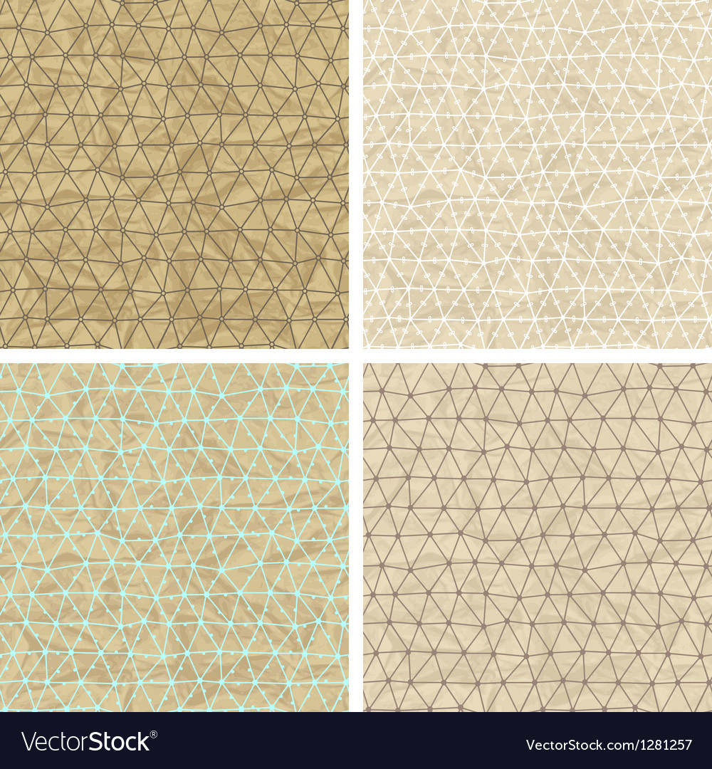 Seamless lace patterns on old paper texture