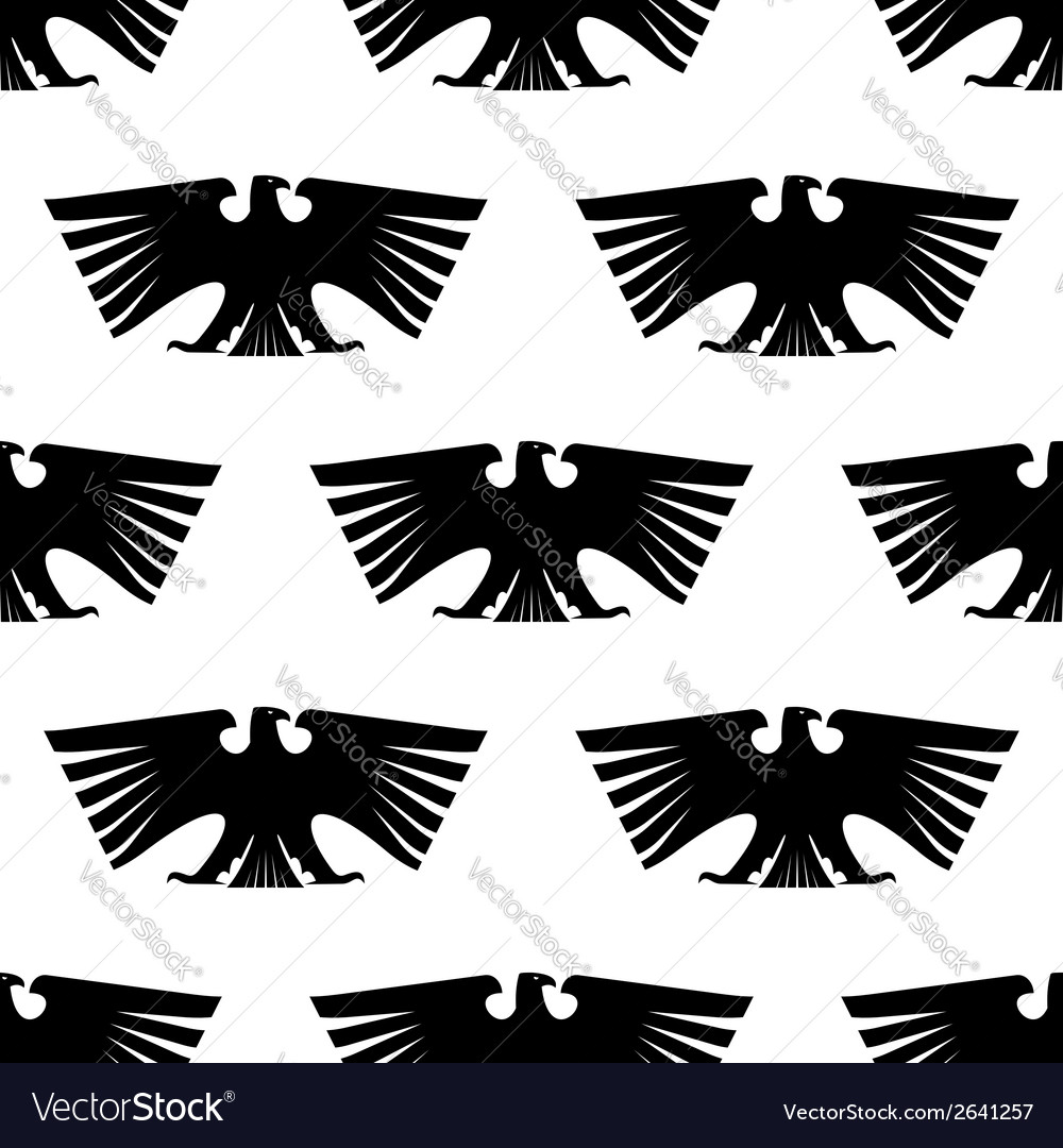 Seamless pattern of Imperial eagle vector image