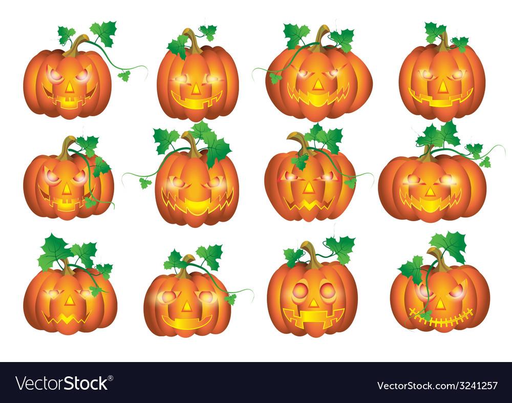 Set pumpkins