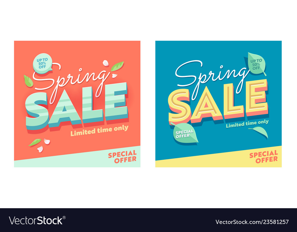 Spring sale banner promotion discount advertising
