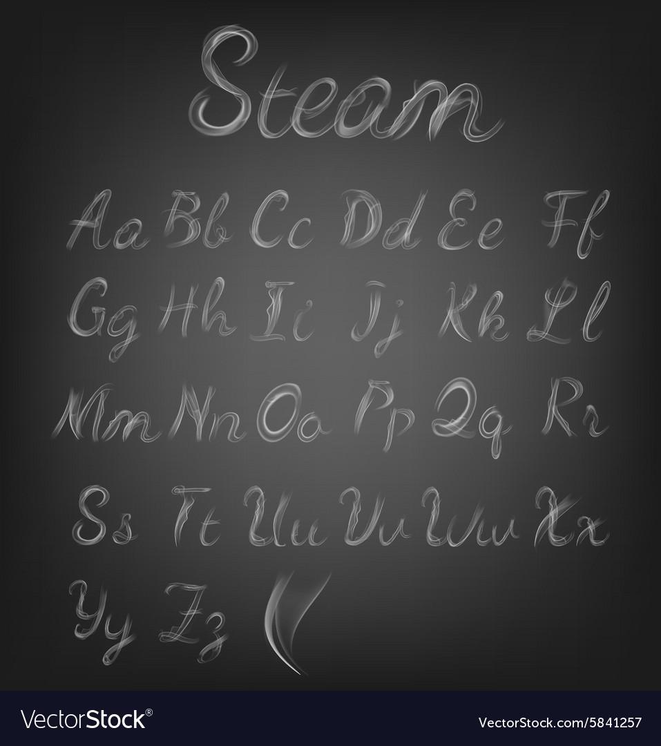 Steam alphabet