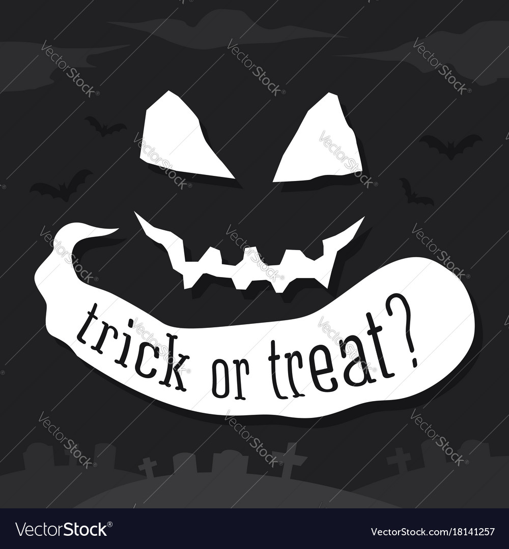Trick or treat text banner