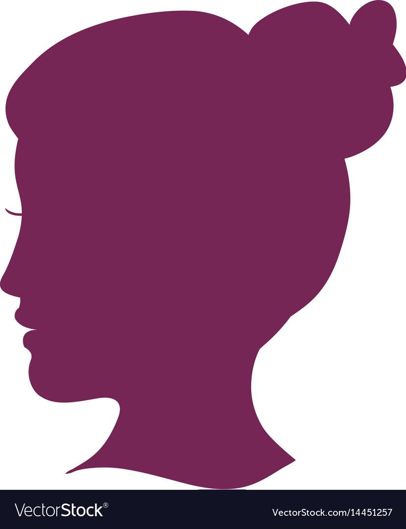 Women head silhouette