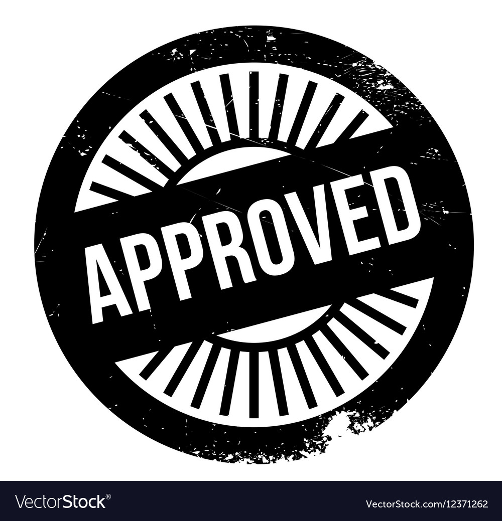 Approved stamp rubber grunge vector image