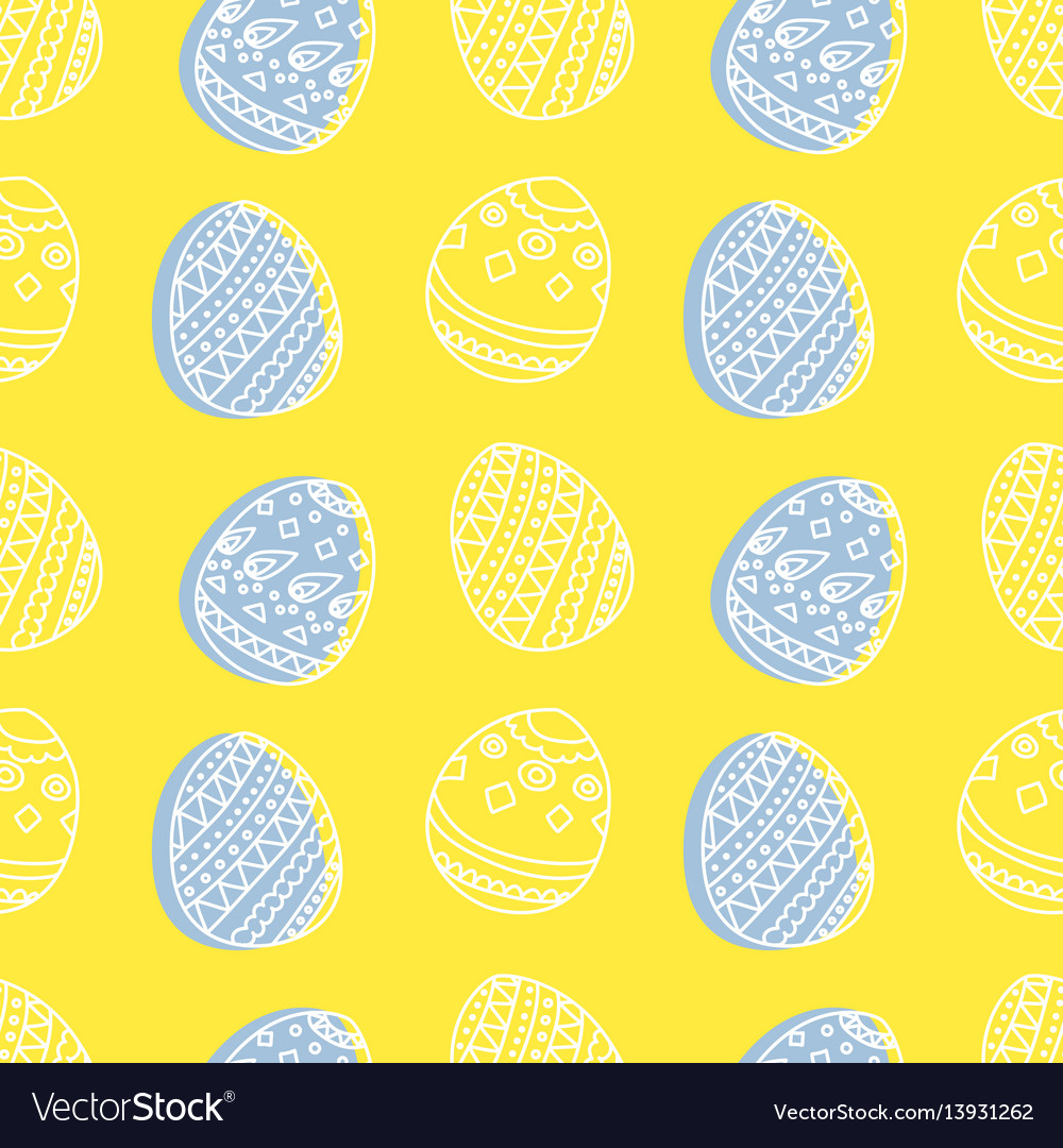 Bright seamless pattern with easter eggs