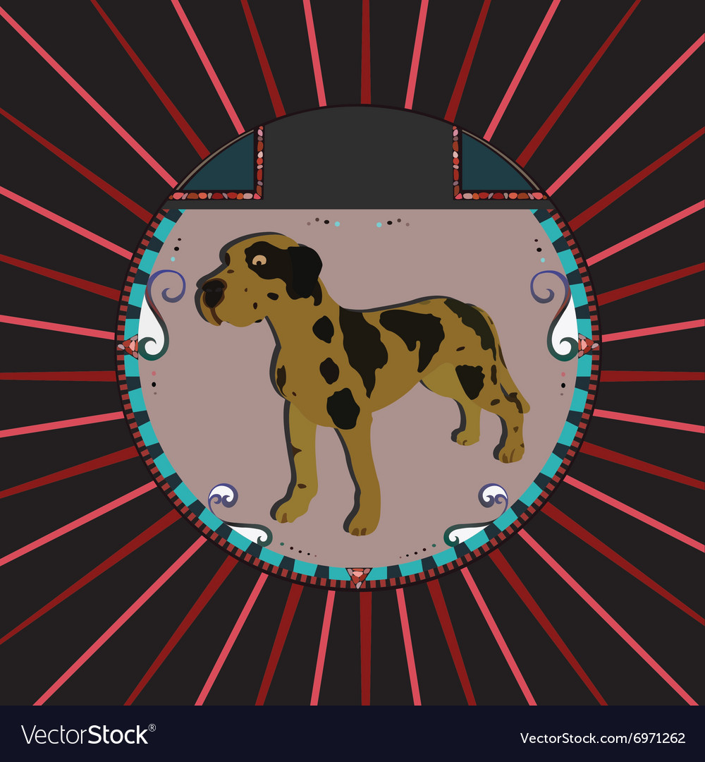 Dalmatian Dog vector image