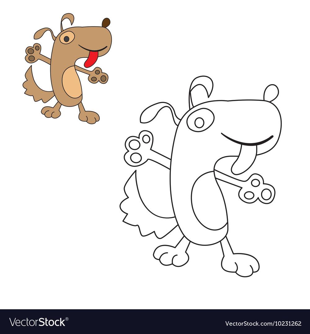 Dog coloring pooch