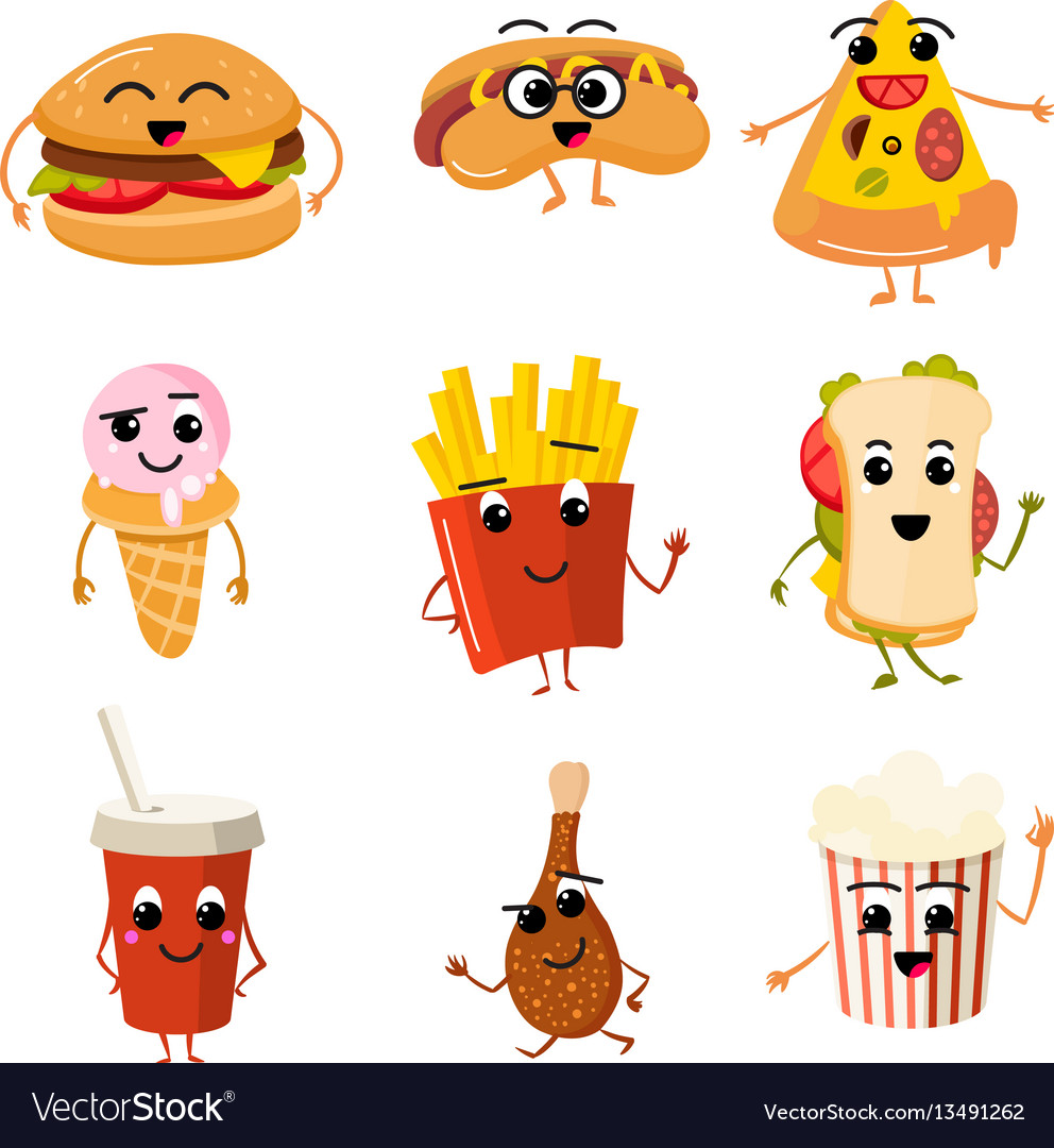 Funny fast food characters