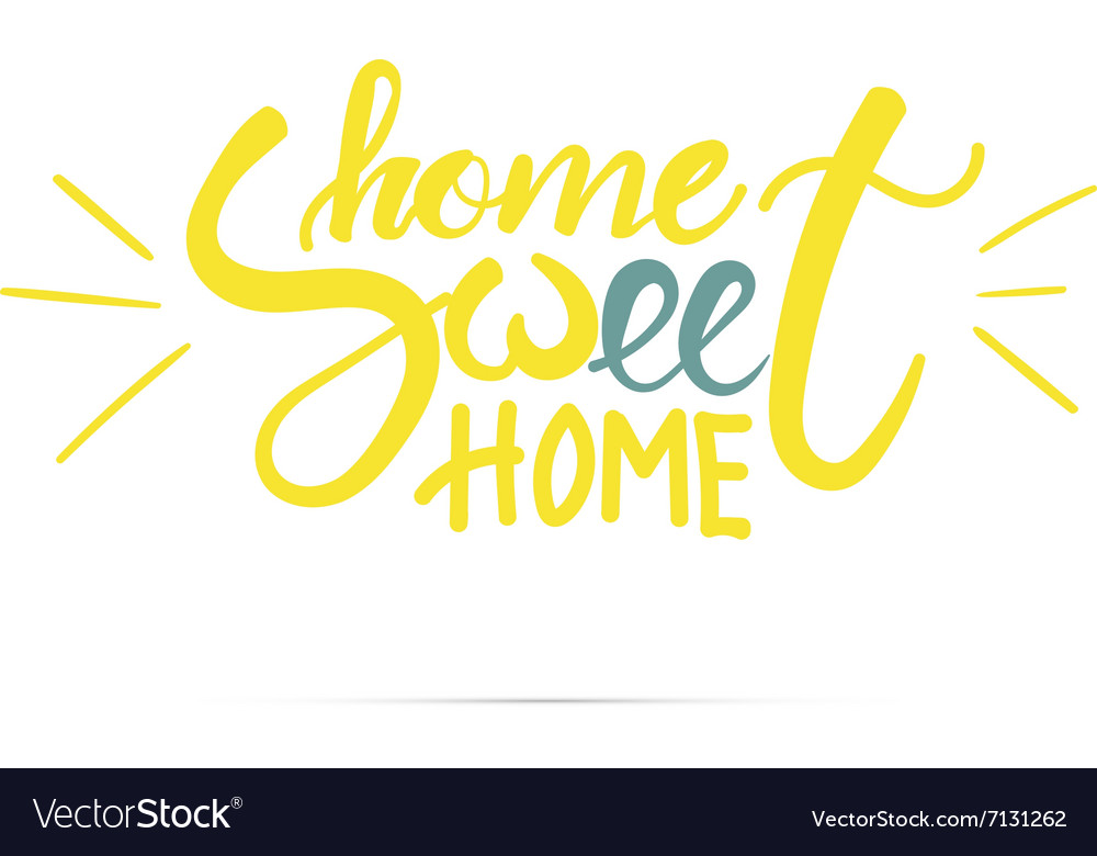 Home sweet home hand lettering