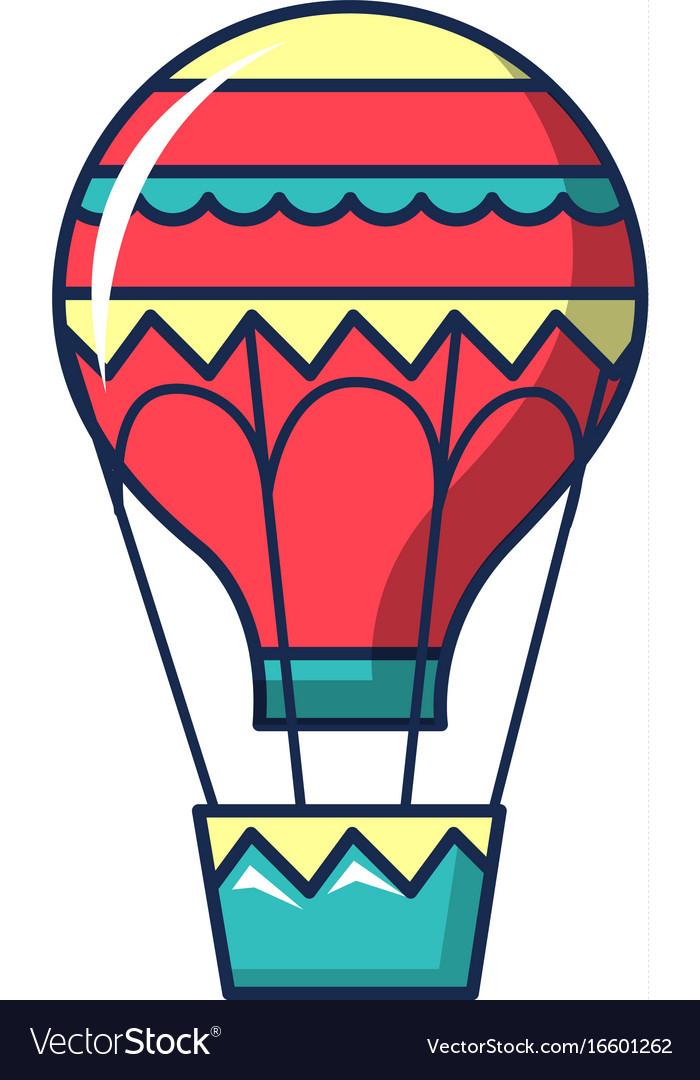 Hot Air Balloon Icon Cartoon Style Royalty Free Vector Image