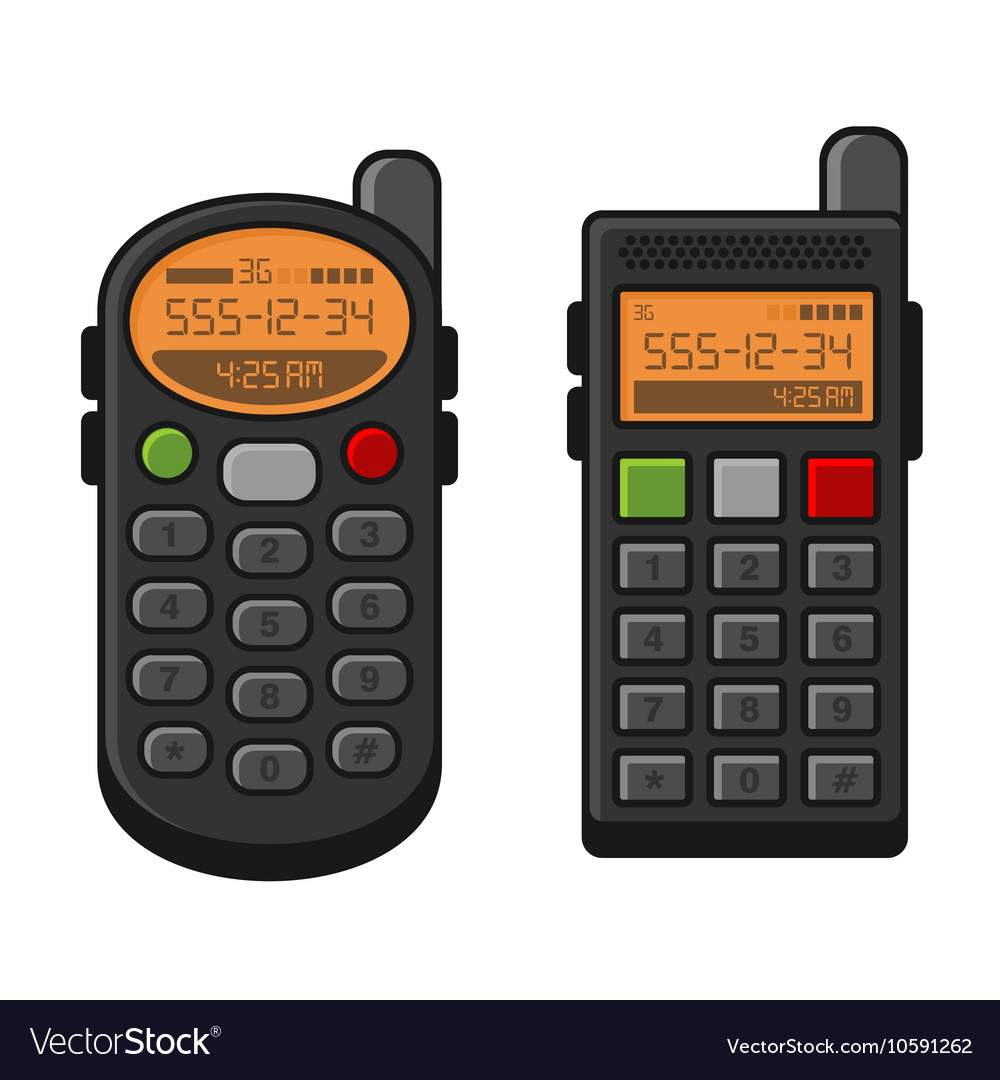 Old Style Vintage Mobile Phone Set Telephone with
