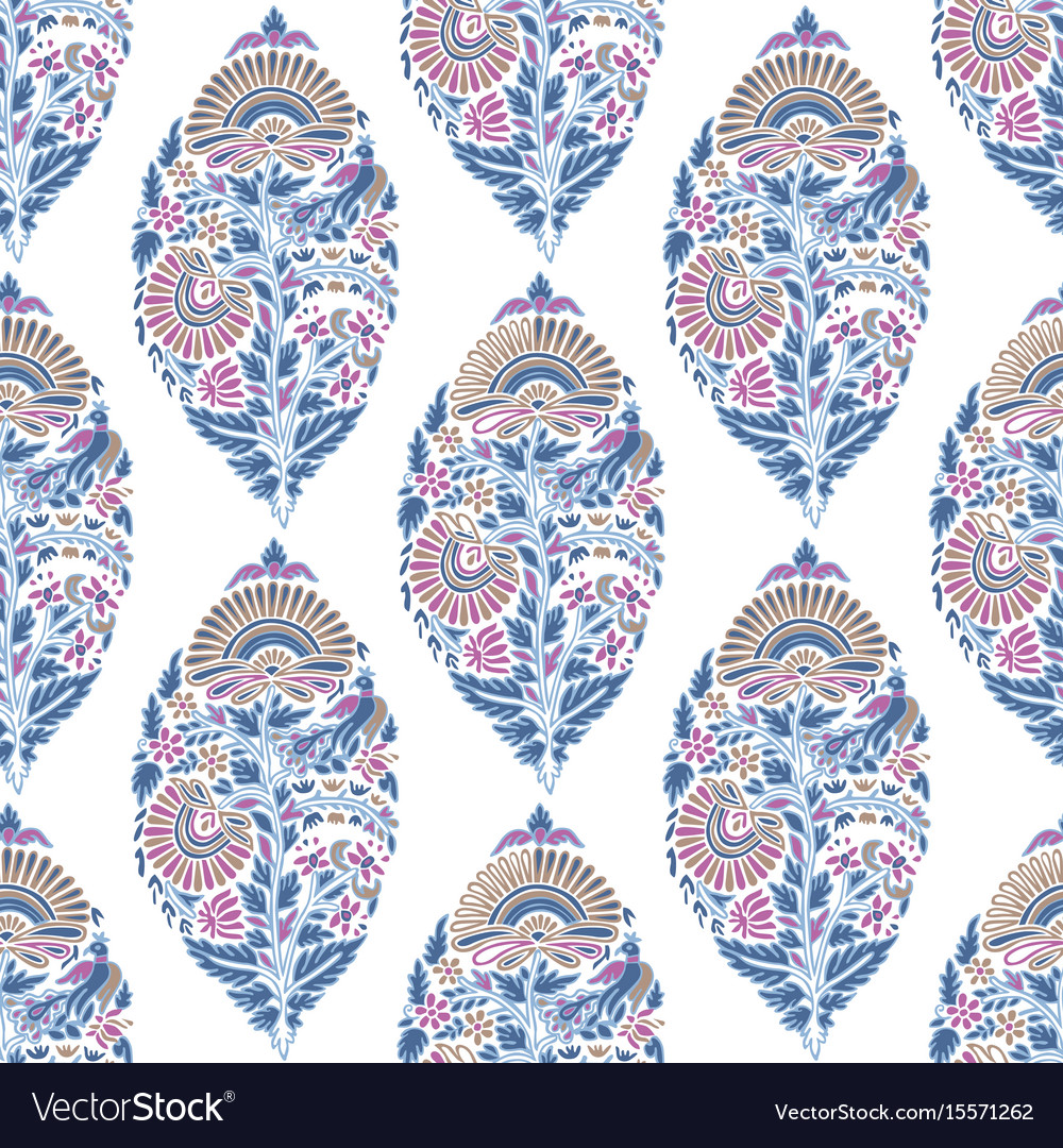 Seamless pattern with floral decoration vector image