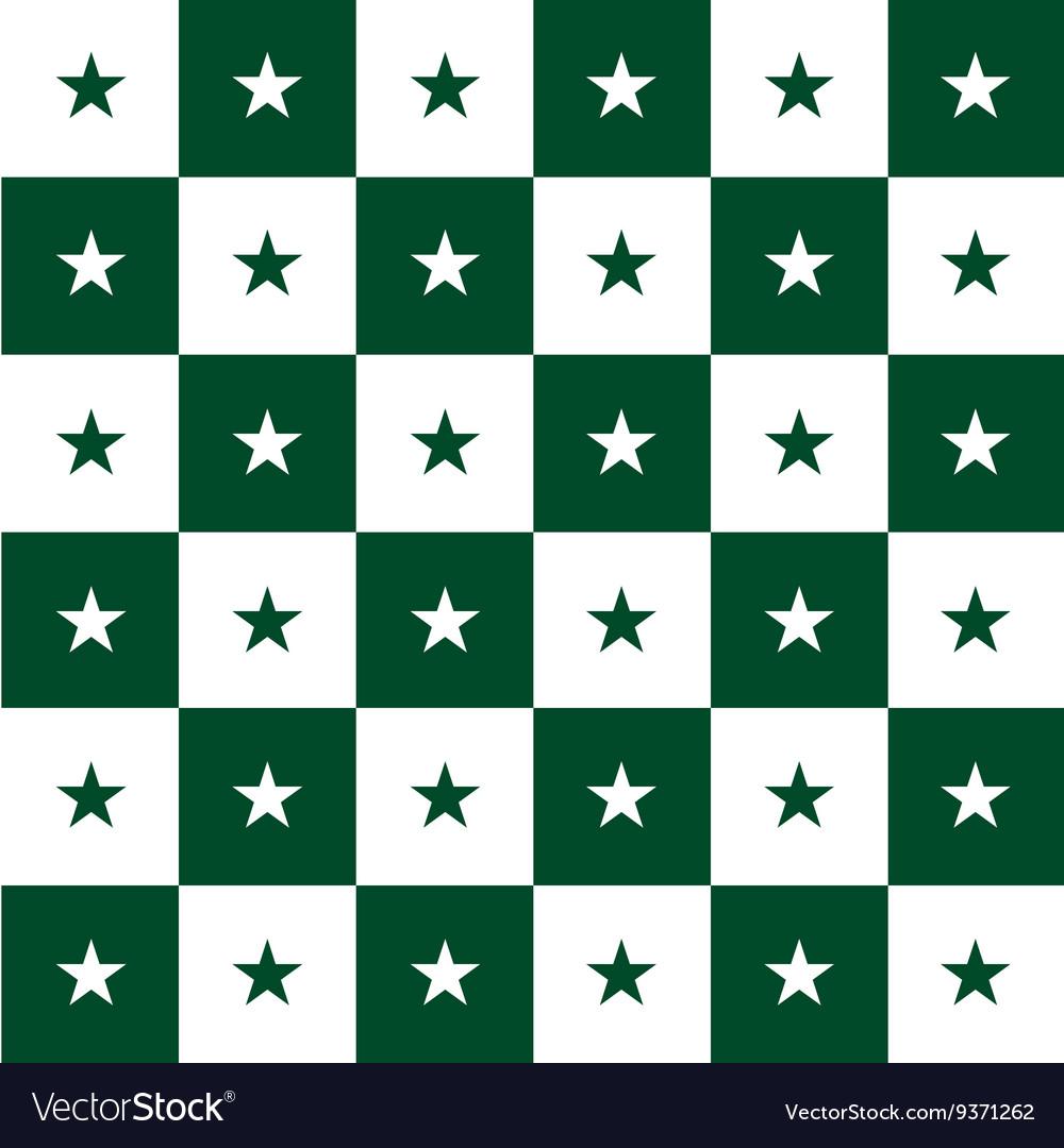 Star Green White Chess Board Background