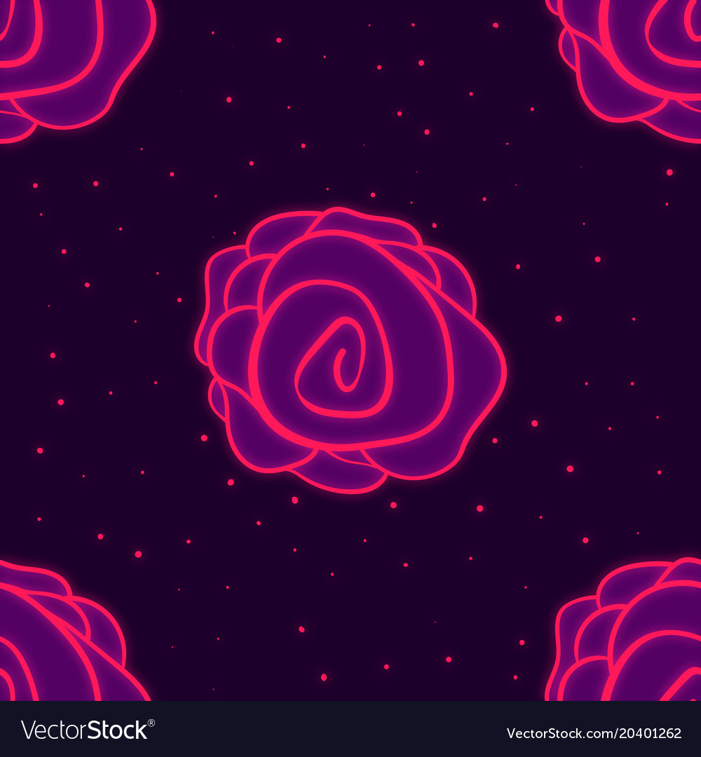 Wallpaper Pink Rose On Purple Background Vector Image