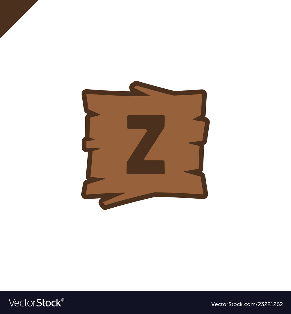 Wooden alphabet blocks with letter z in wood
