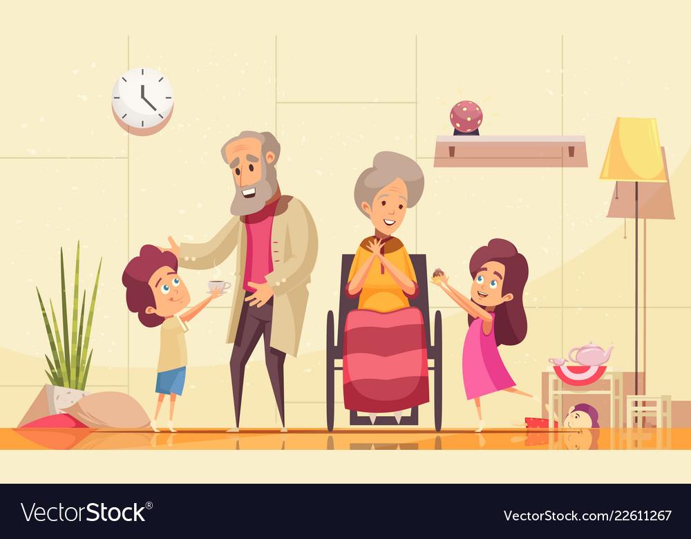 Elderly people family help