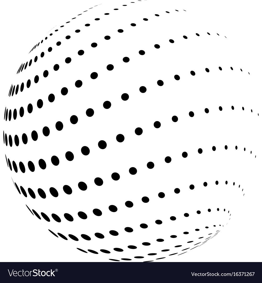 Halftone globe
