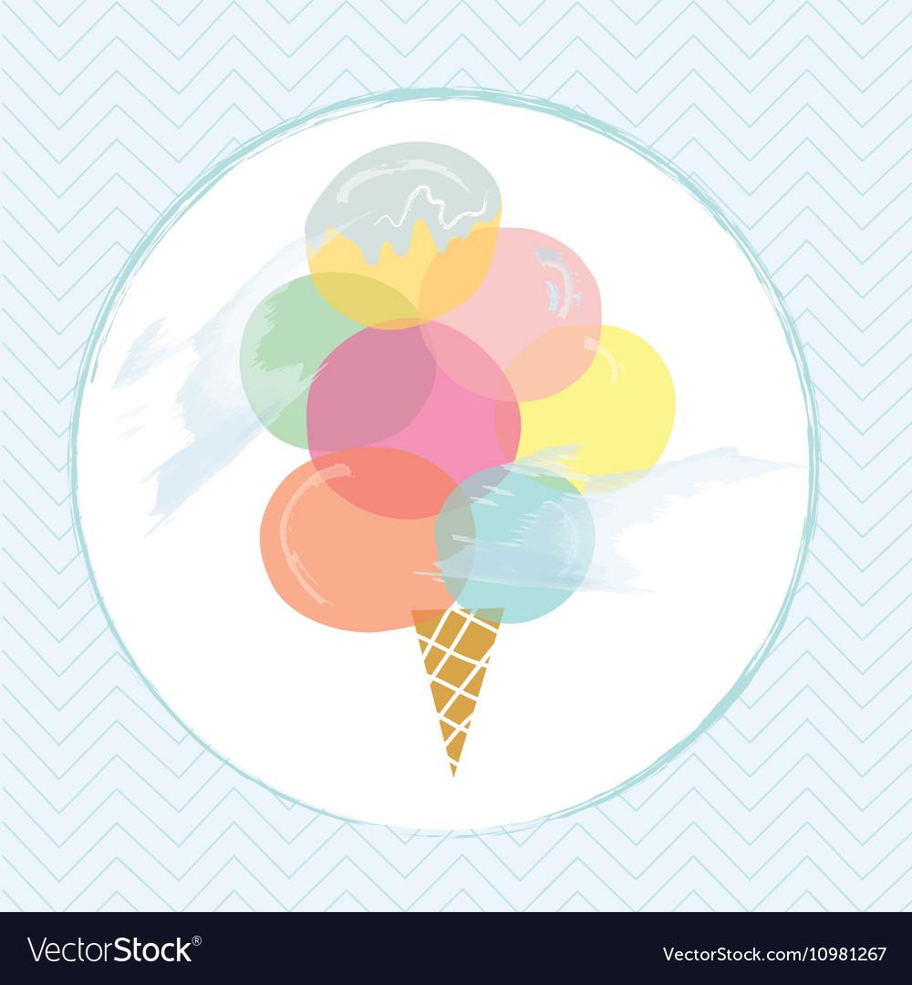 Icecream label design for summer vector image