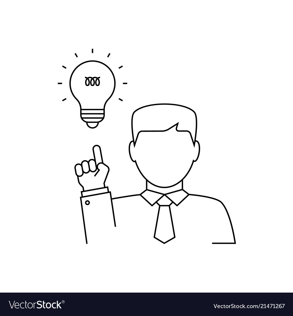 Man having a good idea