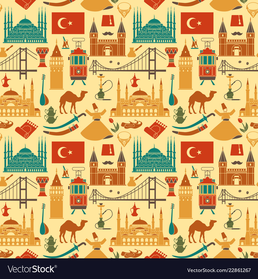 Pattern country turkey culture and traditional