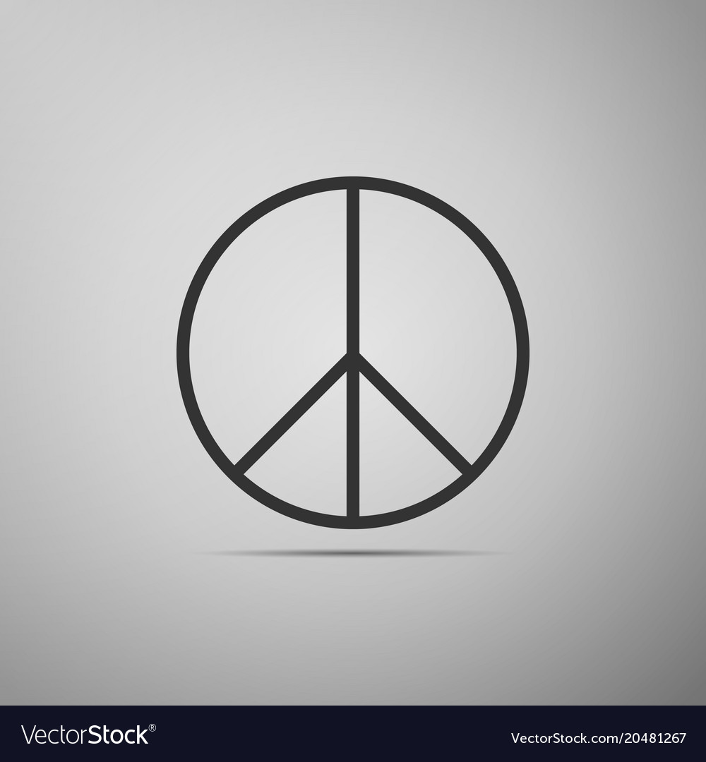 Peace Sign Icon Hippie Symbol Of Peace Royalty Free Vector