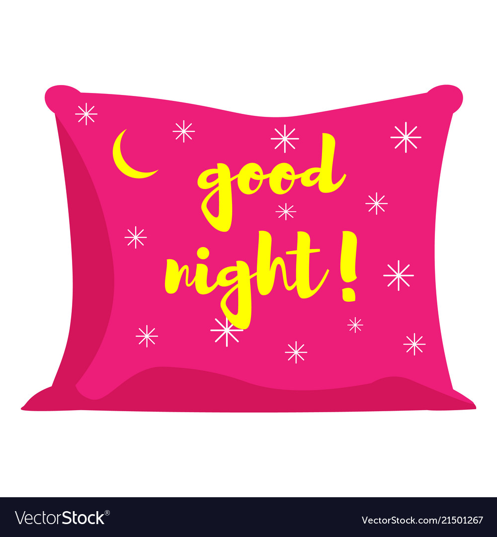 Pink pillow of good night
