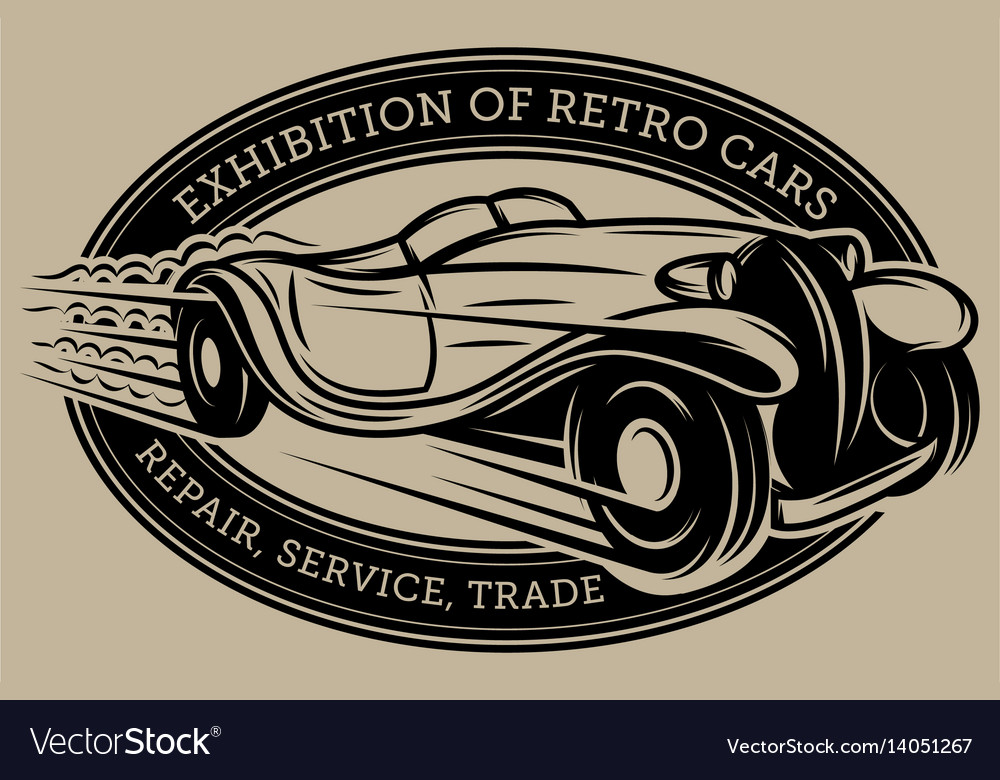 Template with retro car