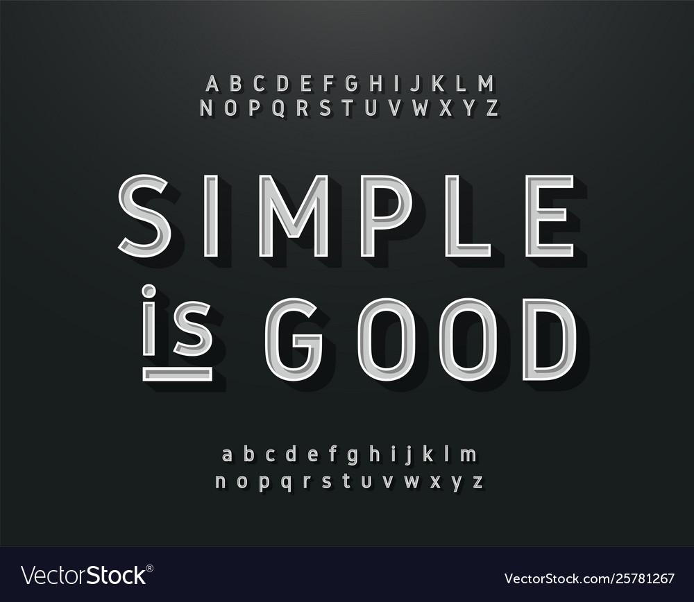 Vintage sans serif alphabet retro typography font
