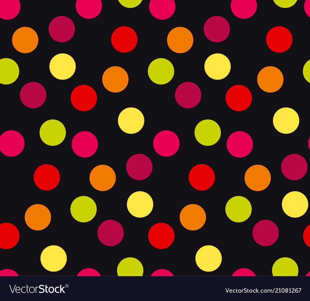 Vivid colorful random polka dot seamless pattern