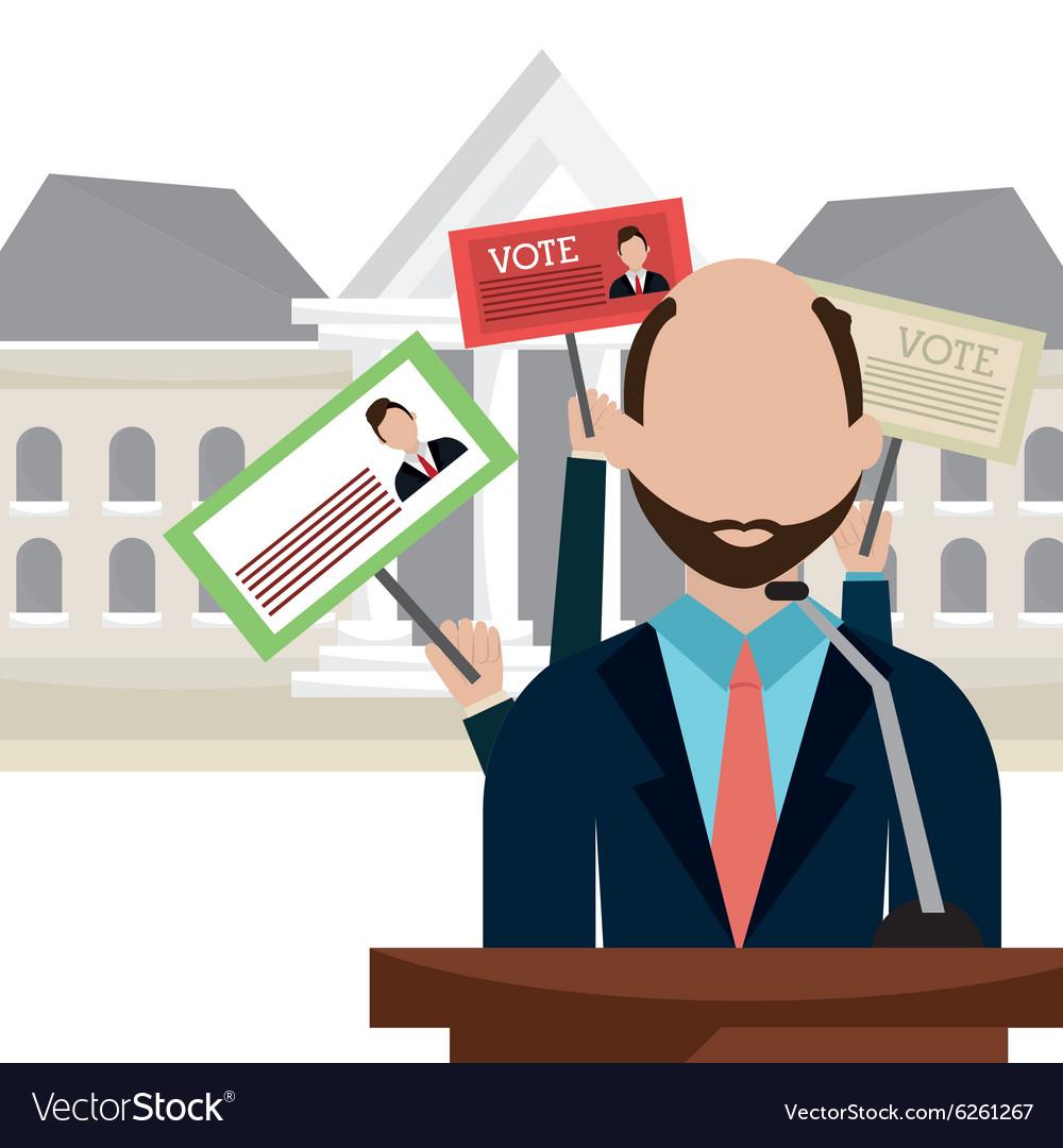 Vote and politician campaign